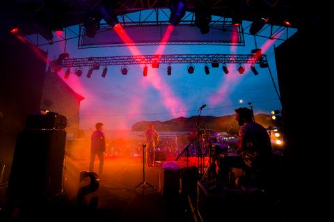 En festivalscen i Sverige