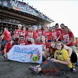 Peace Patrol volunteers on Pol'and*Rock Festival
