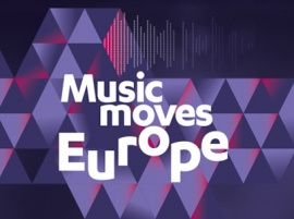 Music Moves Europe - skylt